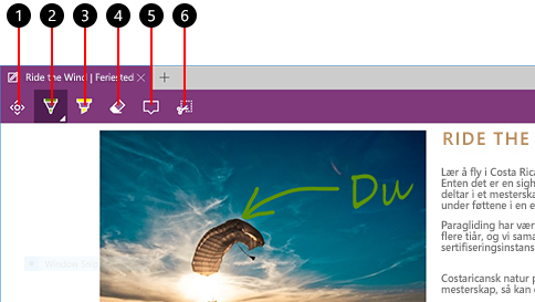 lage et nettnotat i microsoft edge