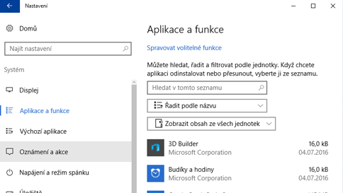 kontrola položky programem windows defender