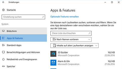 überprüfen von elementen mit windows defender