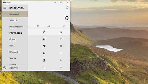 co je nového v kalkulačce ve windows10